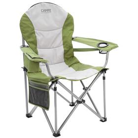 CAMPZ Deluxe Sedia con braccioli, verde oliva/grigio